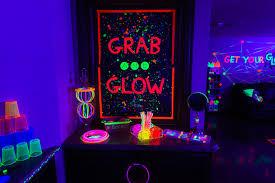black light party ideas kara s party ideas glow birthday party kara s party ideas