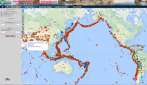 Interactive Map Of Asia by G Ever Asia Pacific Region Earthquake And Volcanic Hazard