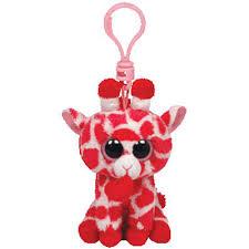 ty beanie boos junglelove pink giraffe heart solid eye
