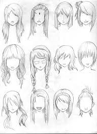 sketches of hair photos anime girl hair sketch drawing art gallery