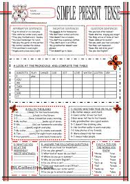simple present tense esl worksheets of the day pinterest