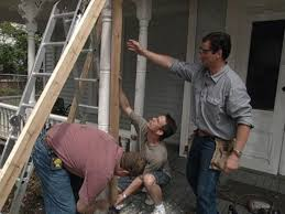 how to remove and brace a rotting porch column how tos diy