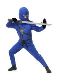 Ninja Halloween Costumes Girls Blue Toddler Ninja Costume
