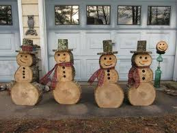 wooden snowman this is such a idea husband was cutting the firewood