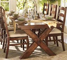 chunky farmhouse table legs this table rustic chunky dark with brighter mismatched chairs