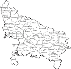 Up Map A Study Of The Geographical Clustering Of Districts In Uttar