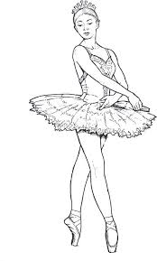 perfect ideas ballet coloring pages ballerina page free printable