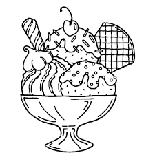 ice cream coloring page intended to inspire in coloring page