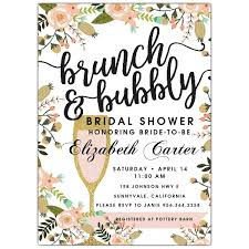 bridal shower invitations brunch brunch and bubbly bridal shower invitations paperstyle