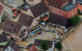 four killed in german flash floods daily mail
