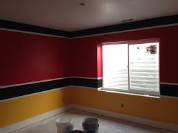 one bedroom three different paint color ideas clarkkensington flag