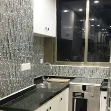 wholesale metallic backsplash tiles brown 304 stainless steel