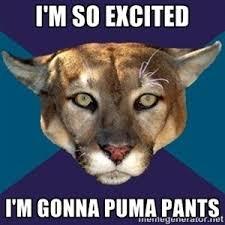 Puma Pants Meme - i m so excited i m gonna puma pants ptsd puma it s been a rough