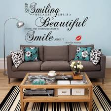 online get cheap marilyn monroe wallpaper aliexpress com keep smiling quotes diy marilyn monroe lips wall stickers living room bedroom mural vinyl decoration decal