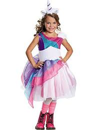 girls unicorn halloween costume null includes dress with