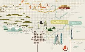 Map Of China And Taiwan by Mancha Tea Map Infographic On Behance