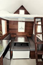 Tiny Home Dining Table House Of The Week 150 Square Feet On Wheels