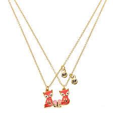 pendant picture necklace images Francesca the fox best friend pendant necklaces claire 39 s us jpg