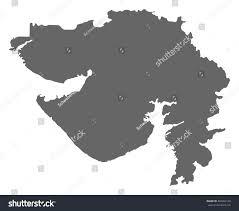 Gujarat Blank Map by Map Gujarat India Stock Vector 494092150 Shutterstock