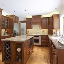 Rta Kitchen Cabinets Los Angeles White Shaker Kitchen Cabinets With Double Wine Racks Kitchen