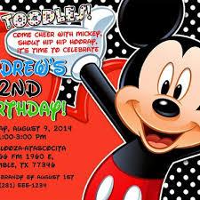 mickey mouse 2nd birthday invitations mickey mouse birthday party invitations dancemomsinfo com