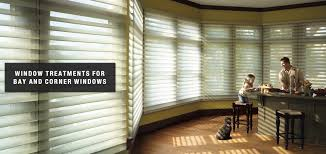 blinds shades for bay and corner windows the blind man window treatments for bay and corner windows by the blind man in champaign il