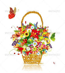 basket of flowers basket of flowers by kudryashka graphicriver