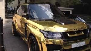land rover range rover sport matte black land rover range rover with a gold wrap also with carbon parts