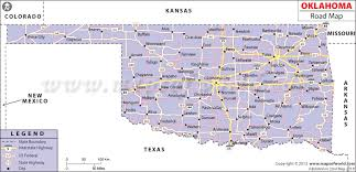 map of oklahoma road map