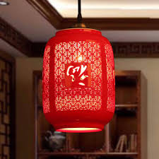 Red Pendant Light by Aliexpress Com Buy Led E27 Chinese Style Red Pendant Light