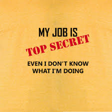 Meaa by My Job Is Top Secret Mens American Apparel Tee T Shirt Funny