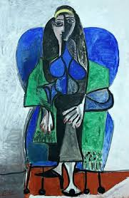 Dora Maar In An Armchair Seated Woman With Green Shawl 1960 By Pablo Picasso