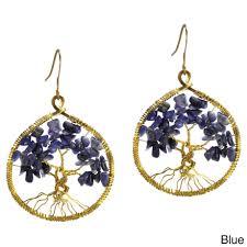 thailand earrings handmade eternal tree of branch brass dangle earrings