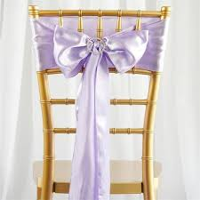 chair sash 5 pcs lavender satin chair sashes tie bows catering wedding party