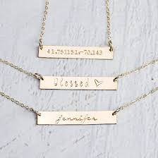 personalized gold necklaces gold necklaces