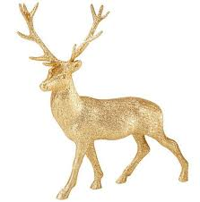 glitter reindeer ornament 23cm