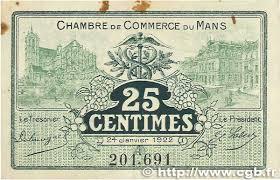 chambre de commerce le mans 25 centimes regionalism and miscellaneous le mans 1922 jp
