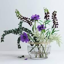Ikebana Vases 3d Model Bouquet In Ikebana Vase Cgtrader