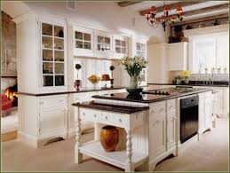 Antique Painted Kitchen Cabinets White Kitchen Cabinets With Antique Black Granite Countertop