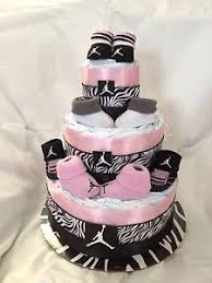 new nike air jordan baby diaper cake pink zebra print awesome baby