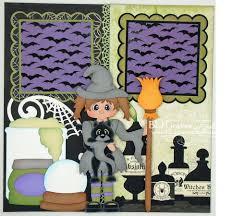 blj graves studio halloween witch spells scrapbook pages
