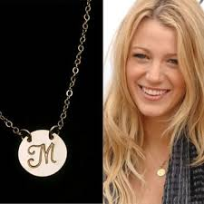 Necklaces With Initials Shop Celebrity Initial Necklace On Wanelo