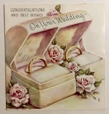 Wedding Wishes Hallmark Vintage Embossed White Cake Candles Bow Wedding Congratulations