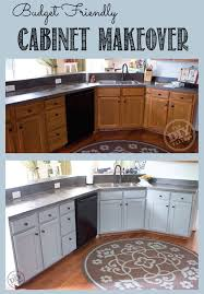 Budget Friendly Cabinet Makeover The DIY Village - Kitchen cabinet makeover diy