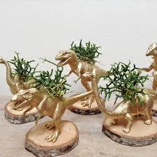 animal planters gold dinosaur planter animal planter dinosaur plant pot up