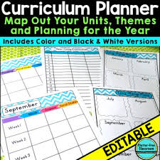 curriculum planning calendar u0026 templates editable maps pacing