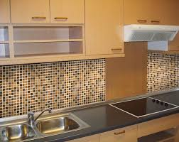 kitchen design and decoration using brown and black mosaic colored