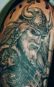 uncolor viking warrior and long ship tattoo design in 2017 real