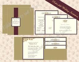 Affordable Pocket Wedding Invitations Pocket Wedding Invitation Template Sunshinebizsolutions Com