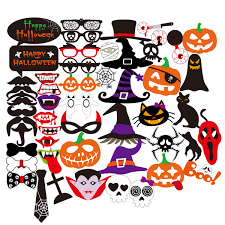 halloween party decoration 52pcs halloween party supplies horror skull photo props 2016